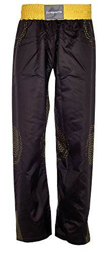 Ju-Sports Kickboxhose CS14 Illusion - Prenda, color negro / amarillo, talla 170