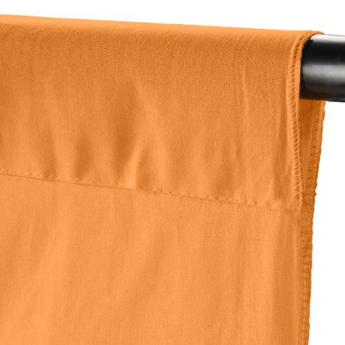 Walimex Cloth Background - Tela para fondo fotográfico, 2.85 x 6 m, orange