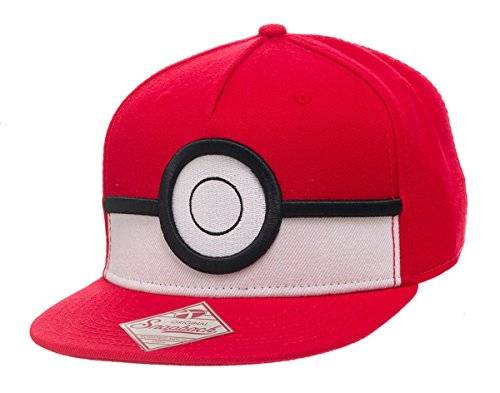 Bioworld BIO - Gorra Pokemon - Pokeball 3D Color Rojo