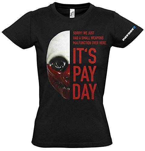 Gaya Entertainment Payday 2 Girlie T-Shirt Wolf Mask, S [Importación Alemana]