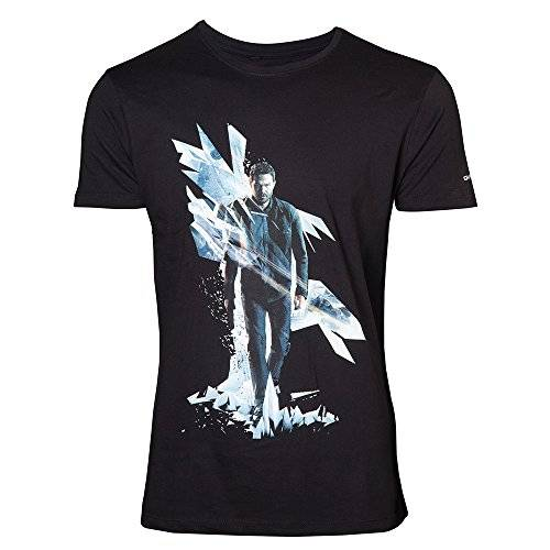 Bioworld Quantum Break T-Shirt -M- Box Art, Schwarz [Importación Alemana]
