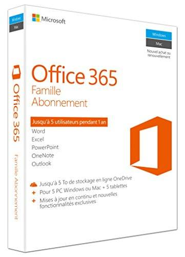 Microsoft Off 365 Home French EuroZone Subscr 1YRMedialess P2