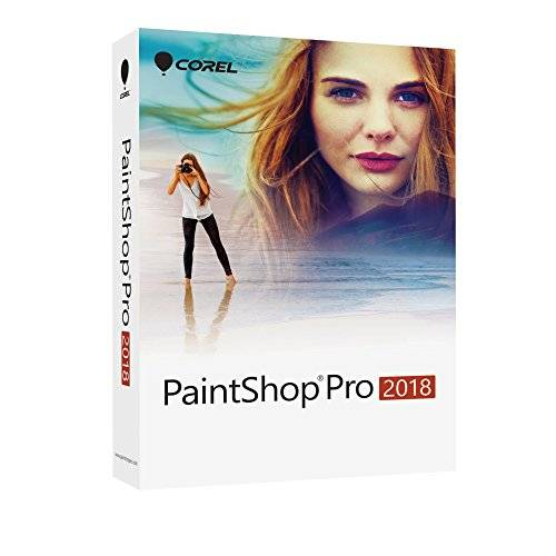 Corel PaintShop Pro 2018 - Software De Diseño Grafico Y Edición De Fotos, Windows, Multi, 1 Usuario