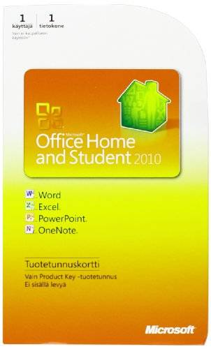 Microsoft Office Home & Student 2010 PC (versión en finlandés)