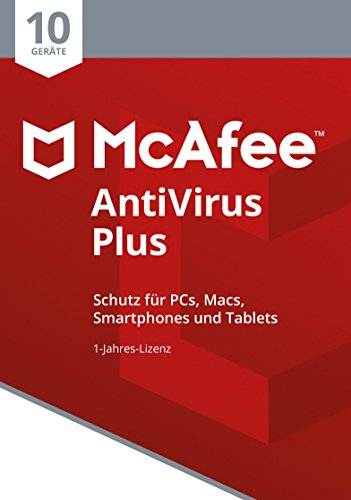 McAfee AntiVirus Plus 2018 10usuario(s) Base license - Seguridad y antivirus (10, Base license)