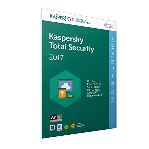 Kaspersky Lab Total Security 2017 Base license 10usuario(s) 1año(s) Inglés - Seguridad y antivirus (10, 1 año(s), Base license, Soporte físico)