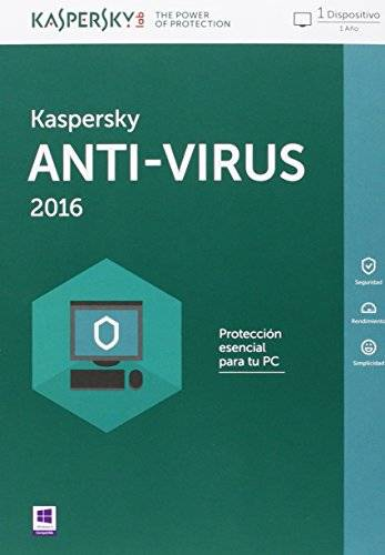 Kaspersky AntiVirus 2016 - Software De Seguridad, 1 Usuario, Base