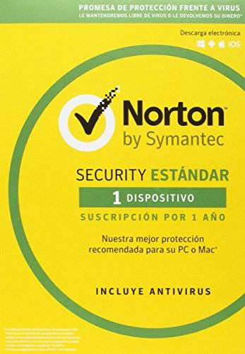 Symantec Norton Security Estándar 2018 – 1 Dispositivo, 1 año