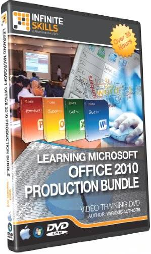 Infinite Skills Learning Microsoft Office 2010 Tutorial DVDs Box Set - Production Training Bundle 30+ Hours (PC / Mac)