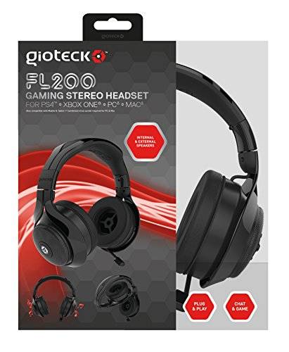Gioteck - Auricular Flow 200 Stereo, Color Negro