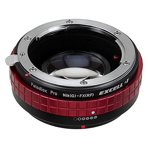 Fotodiox Excell+1 NIK(G)-FXRF from Fotodiox Pro - Nikon (G, FX) Lens to Fujifilm X-Mount (FXRF) MILC Camera Lens Mount Adapter with Focal Reducing, Light Gathering Optics
