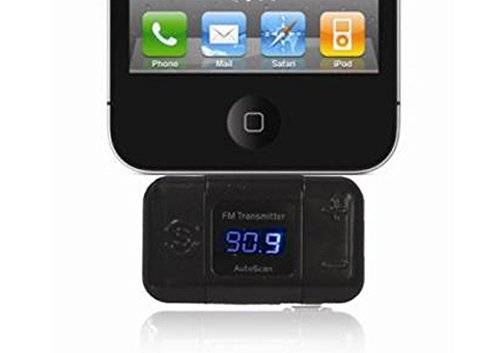 mr HandsFree FM201 - Transmisor FM compatible con Apple iPhone/iPod para altavoces de vehículo