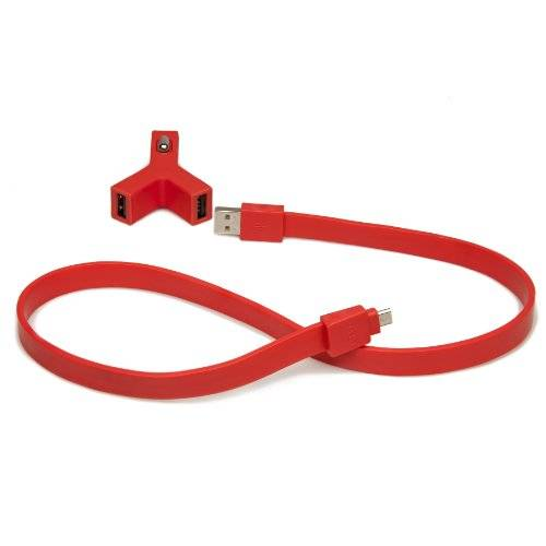 Tylt Haciéndote TYLT-055572 12 V a Carga 2 x USB + cable Micro USB - Y - Charge + Syncable - 2,1 A - rojo