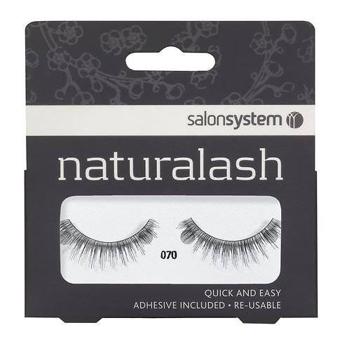 BeautyCentre Salon System Naturalash Quick and Easy Re-Usable Black 070 Lashes
