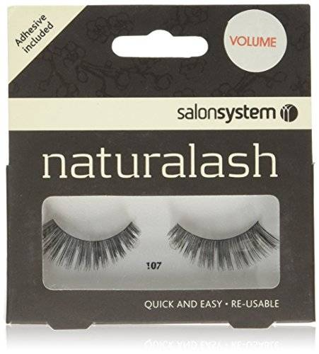 HealthCentre Salon System Naturalash Quick and Easy Re-Usable Black 107 Lashes