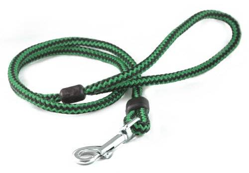 The Animate Company Limited Animate Outhwaites Harlequin Rope Lead Green & Black 100cm X 12mm