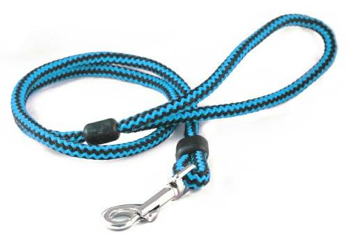 The Animate Company Limited Animate Outhwaites Harlequin Rope Lead Blue & Black 100cm X 12mm