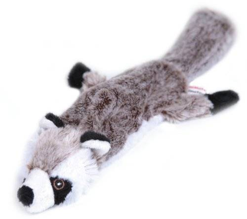 The Animate Company Limited Animate Co. Flat Friend Skin Squeaky Dog Toy Racoon 32cm (12.5
