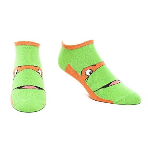 Mutant Teenage Mutant Ninja Turtles - Ninja Orange Ankle (Calzini Tg. 43-46)