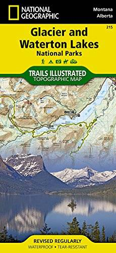 National Geographic Maps Glacier/waterton Lakes National Parks: Trails Illustrated National Parks: NG.NP.215 (National Geographic Trails Illustrated Map)