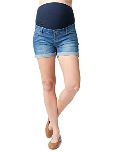 Ripe Maternity Denim Shorty Shorts - Short para mujer, color azul, talla 36