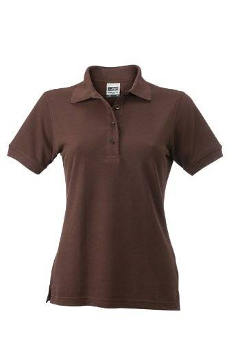 James & Nicholson Polo Ladies Workwear - Camiseta/Camisa deportivas, color marrón (brown), talla S