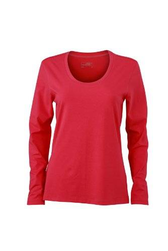 James & Nicholson Langarmshirt Ladies Stretch Shirt Long Sleeve - Camisa de maternidad Mujer, Rosa (Pink), XX-Large (Talla del fabricante: XX-Large)