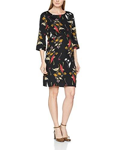 MAMALICIOUS Mlshania June 3/4 Woven Dress Nf, Vestido Premamá para Mujer, Multicolor (Black Aop:Black/Dry Rose/Chinese Yellow/Sea Mist), 42 (Talla del fabricante: X-Large)