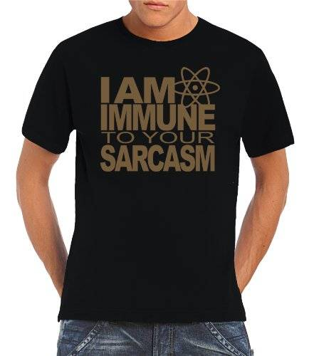 Touchlines T-Shirt I AM IMMUNE TO YOUR SARCASM - Prenda, color negro/dorado, talla 2XL