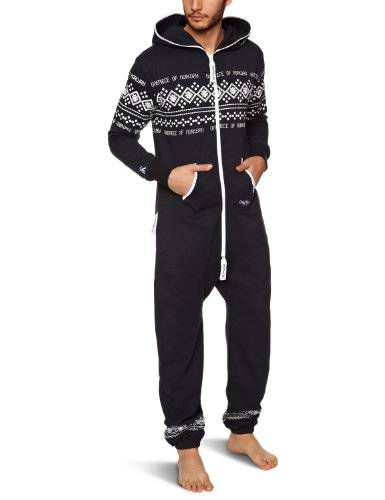 One Piece OnePiece Jumpsuit Lusekofte - Mono Hombre, Multicolor (Navy/White), X-Large (Talla del fabricante: X-Large)