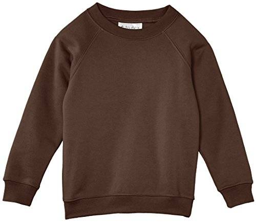 Trutex Limited CJS - Sudadera liso con cuello redondo, unisex, color  marrón (brown), talla 15 años (fabricante: L)