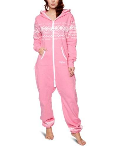 One Piece OnePiece - Mono unisex, talla Large, color rosa/blanco