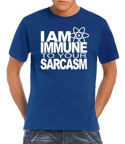 Touchlines T-Shirt I AM IMMUNE TO YOUR SARCASM - Prenda, color azul, talla XL