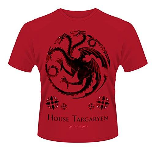 Playlogic International(World) Game Of Thrones House Of Targaryen - Camiseta con manga corta para hombre, color red, talla xl
