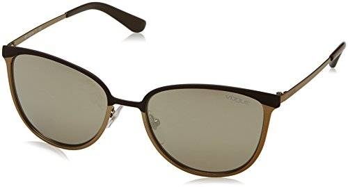 Vogue 0Vo4002S, Gafas de Sol para Mujer, Brown / Brushed Pale Gold Mt, 55