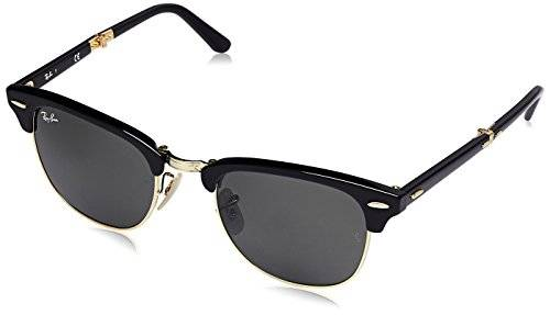 Rayban de sol Rectangulares RB2176 Clubmaster Folding, Multicoloured (Black/Green 901)