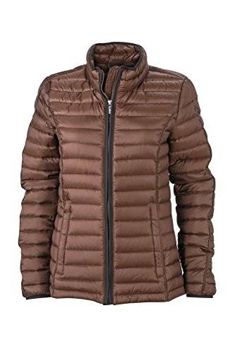 James & Nicholson Daunenjacke Ladies Quilted Down Jacket - Chaqueta técnica para mujer, color marrón, talla L