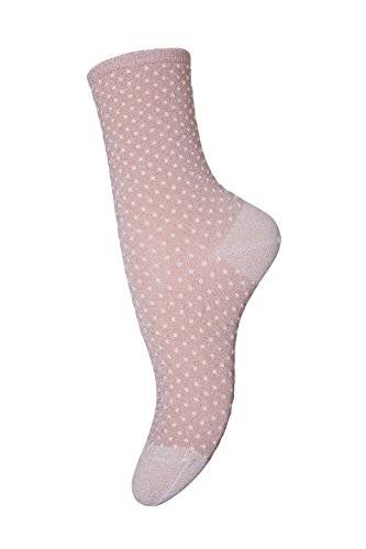 MP Socks Damen Socken Ankle Nora, Calcetines para Mujer, Rosa (Nude Glitter 728), 39-42