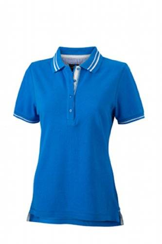 James & Nicholson Poloshirt Ladies' Lifestyle - Polo Mujer, azul, X-Large (Talla del fabricante: X-Large)