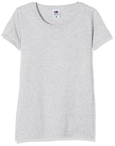 Fruit of the Loom Ss129m, Camiseta Para Mujer, Gris (Heather), L (Talla Fabricante 14)