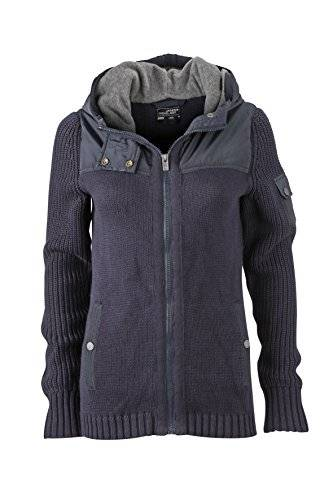 James & Nicholson Jacke Ladies' Knitted Winter Cardigan - Chaqueta técnica para mujer, color azul, talla S