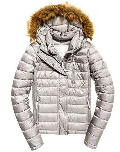 Superdry G50017YPF1, Chaqueta Deportiva para Mujer, Argento (Comet Silver), X-Small