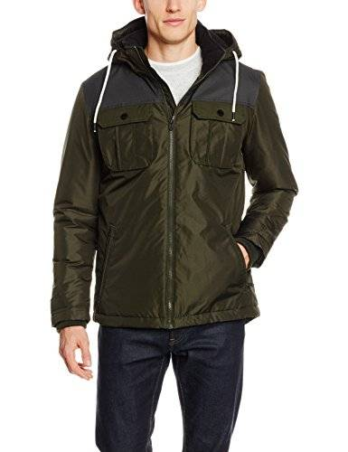 Jack & Jones JCOFLICKER JACKET BLOCK, Chaqueta Hombre, Verde (Rosin), X-Large
