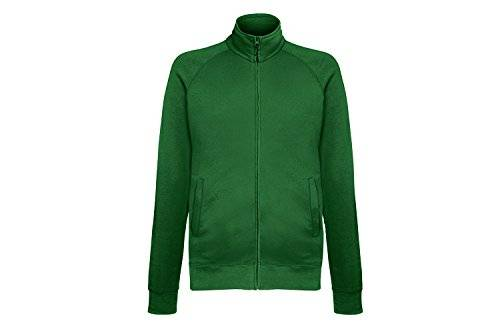 Fruit of the Loom Lightweight Sweat Jacket, Chaqueta Deportiva para Hombre, Rot (Bottle Green 38), XX-Large
