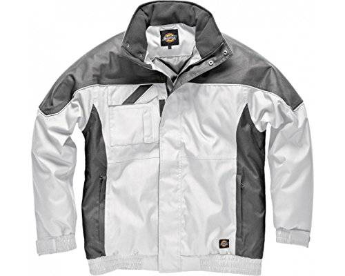 Dickies IN30060 Pilot - Abrigo impermeable, blanco, gris, extra-large