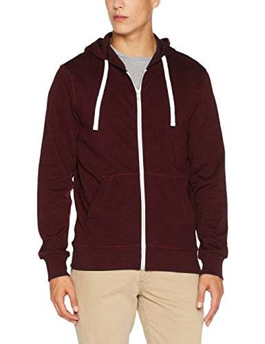 Jack & Jones Jorholmen Sweat Zip Hood Noos, Sudadera para Hombre, Rojo (Port Royale Fit:Reg Fit), Large