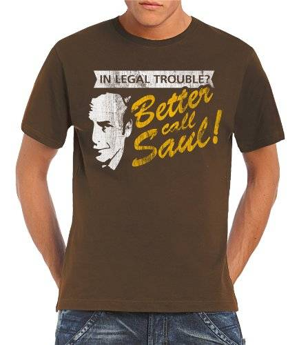 Touchlines Camiseta para hombre In Legal Trouble Breaking Bad, tamaño M, color verde