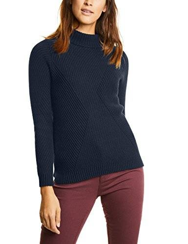 Street One Structure Mix Pullover, Suéter para Mujer, Blau (Night Blue 10109), 46 (Talla Del Fabricante: 44)