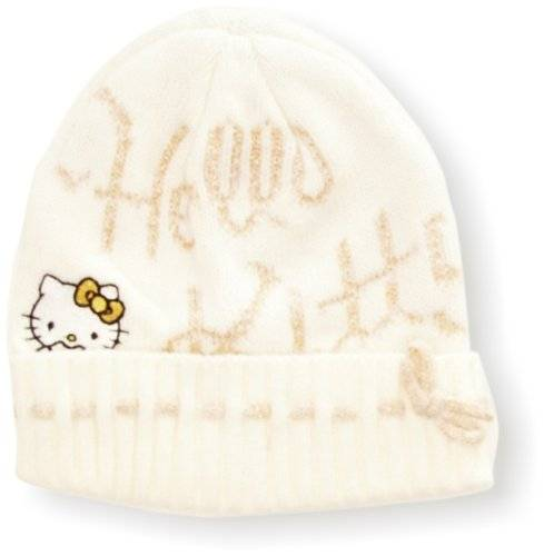 Hello Kitty - Gorro para niña, talla 52 cm - talla inglesa, color blanco