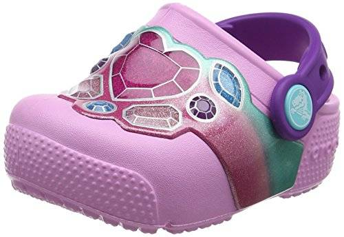 Crocs Fun Lab Lights Clog Kids, Unisex Niños Zueco, Multicolor (Gems/Carnation), 27-28 EU